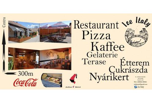 Ice Italy Pizzeria&Restaurant Parajd, Gasztronómia Parajd