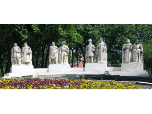 The Statuary Group Of The Voivodes Iasi